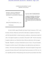 Consent Decree and Final Judgment Order - Federal Trade ...
