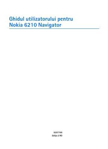 Ghidul utilizatorului pentru Nokia 6210 Navigator