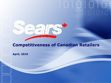 Competitiveness of Canadian Retailers
