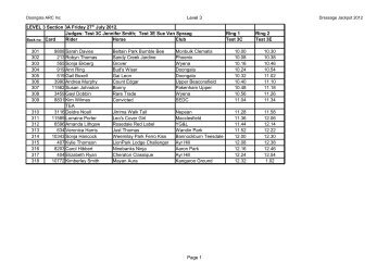 Level 3 Page 1 Ring 1 Ring 2 - Doongala Adult Riding Club Inc