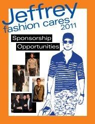 Opportunities Sponsorship - Jeffrey Fashion Cares