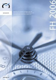 Jahresbericht 2006 - Federation of the Swiss Watch Industry FH