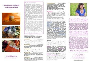 Aromapflegeprodukte - Naturheilpraxis Brigitte Karbe