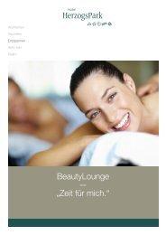 """BeautyLounge — """"Zeit für mich."""" - HerzogsPark"""