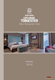 Download der Preisliste Saison 2013 - Hotel Esplanade Tergesteo