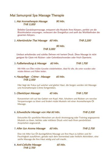 SPA MENU (Download PDF file)