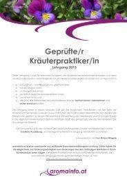 KräuterpraktikerInnen-Lehrgang 2013 – Graz – Modul 1