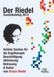 Zusatzkatalog 2013 Schöne Sachen für die ... - Riedel GmbH