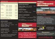 Preisliste FEBAX - Sport - pixel - Grafikstudio