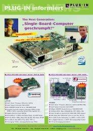 PLUG-IN informiert - PLUG-IN Electronic GmbH