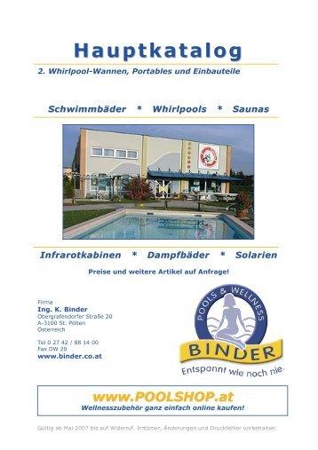Whirlpool-Wannen, Portables und Einbauteile - Pools & Wellness ...