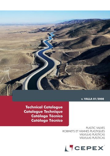 Catálogo Técnico Válvulas Cepex - Poolaria