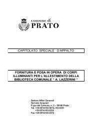 Capitolato Speciale d'Appalto per fornitura e ... - Comune di Prato