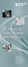 85 Ways to Save Money and Energy - Atlantic City Electric