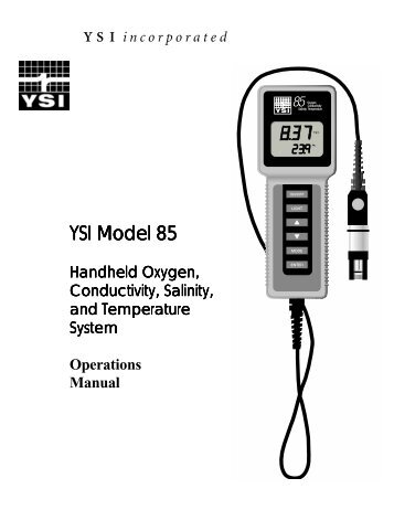 YSI Model 55 Handheld Dissolved Oxygen System Service Manual