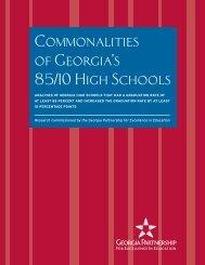 Commonalities of Georgia's 85/10 High Schools