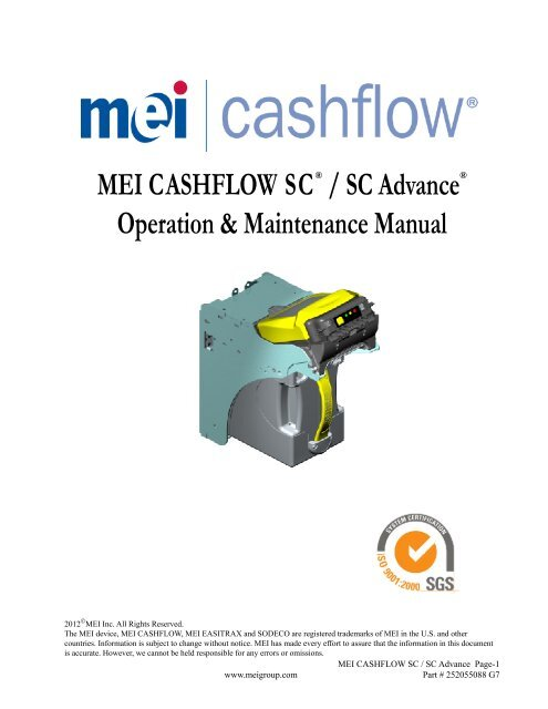 Download SC-SCN Operation and Maintenance     - MEI Technical