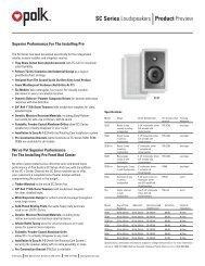 Product Preview SC Series Loudspeakers - Polk Audio
