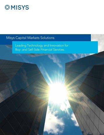 Capital Markets Brochure - Misys