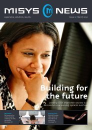 Building for the future - Misys
