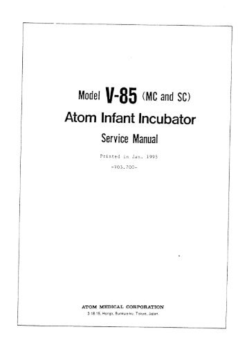 air shields pm 78 infant incubator service manual frank's hospital service manuals Hospital Manual Binder