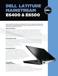 DELL™ LATITUDE™ MAInsTrEAM E6400 & E6500