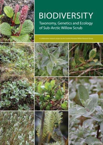 Biodiversity: taxonomy, genetics, and ecology of sub-arctic