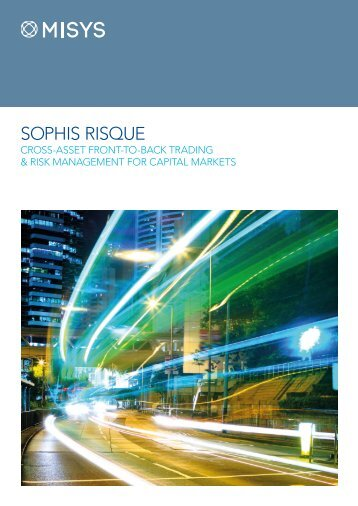 Sophis RISQUE Brochure - Misys