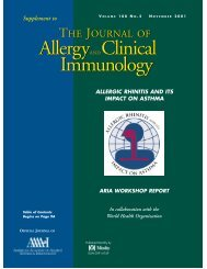 Allergy & Clinical Immunology - Progetto ARIA