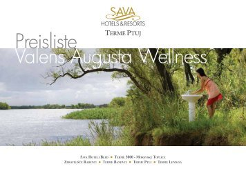 Preisliste 2012 - Sava Hotels & Resorts