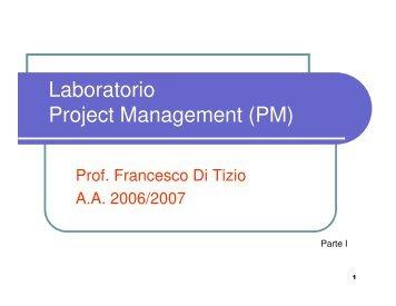 Laboratorio di Project Management - Università Gabriele d'Annunzio