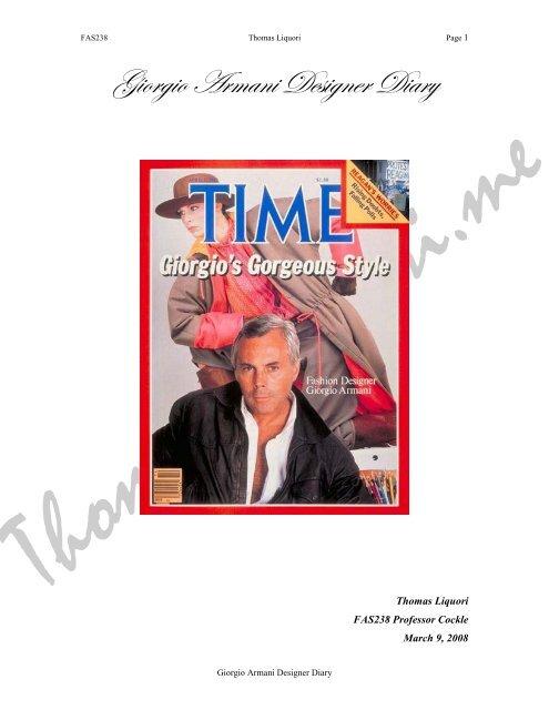 Giorgio Armani Designer Diary Liquori Thomasliquori Me