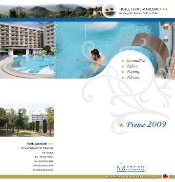 Download und druecken PDF Preiseliste 2009 - Hotel Terme Marconi