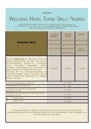 Entdecken Sie die Behandlungen und Preise - Hotel Terme delle ...