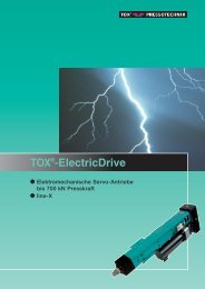 TOX®-ElectricDrive - TOX PRESSOTECHNIK GmbH & Co.KG