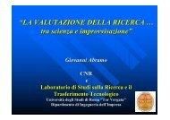 Slide di presentazione (304 KB) - Università Politecnica delle Marche