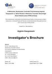Arginin-Vasopressin Investigator's Brochure - VITRIS