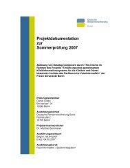 Projektdokumentation zur Sommerprüfung 2007 - Fachbereich ...