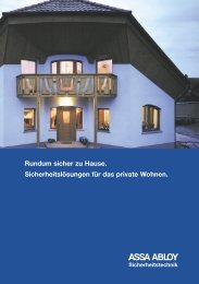 Segmentbroschüre Privates Wohnen - Assa Abloy