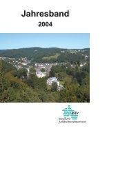 Jahresband 2004 (PDF, 1 MB) - Bergischer Abfallwirtschaftsverband