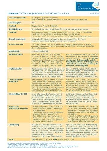 CJD Factsheet - CJD Institut für Weiterbildung NRW