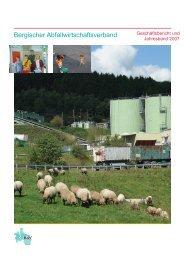 Geschäftsbericht und Jahresband 2007 - Bergischer ...
