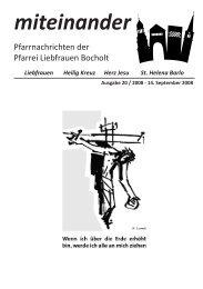 Pfarrnachrichten miteinander Nr. 20 - Jahr 2008 - Katholische ...