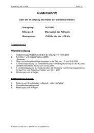18.10.2005 Niederschrift - in der Gemeinde Heiden