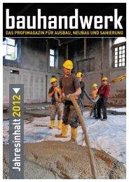 Jahresinhaltsverzeichnis bauhandwerk 2012