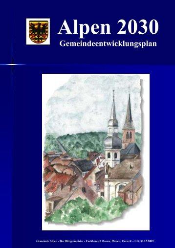 Gemeindeentwicklungsplan - Gemeinde Alpen