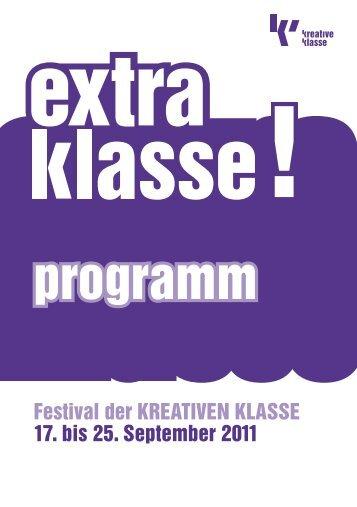 extraklasse! - Programmheft (PDF) - Kreative Klasse eV