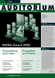 1/2003 - DEKRA Certification