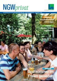 Kundenmagazin privat, Ausgabe 2/2006 (PDF, 3,5 - ngw