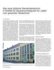 Das neue jüdische Gemeindezentrum in Krefeld ist ...